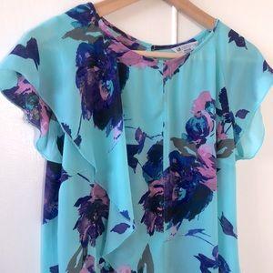 ☀️ Liz Claiborne Floral T-Shirt Blouse
